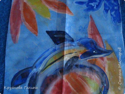 Батик: Дельфин на рифах