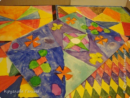 Витраж: Разноцветные стеклышки