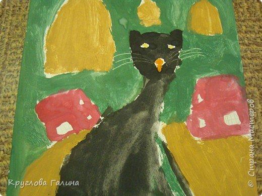 Рисование и живопись: Черный кот