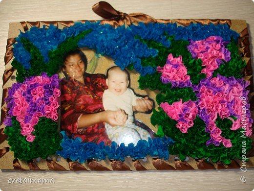 Торцевание: фоторамка для мамы фото 2