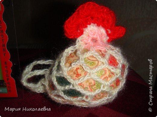 Вязание крючком: Курочки-мешочки для пасхальных яиц фото 1