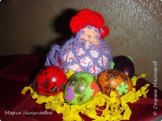 Вязание крючком: Курочки-мешочки для пасхальных яиц фото 2