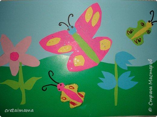 Аппликация: бабочки