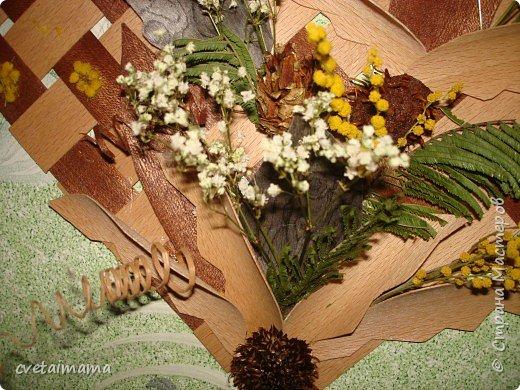 панно из шпона и сухоцветов. фото 2