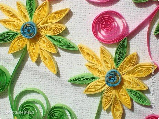 Квиллинг: летние цветы фото 3