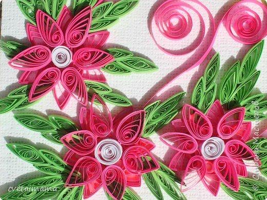 Квиллинг: летние цветы фото 2