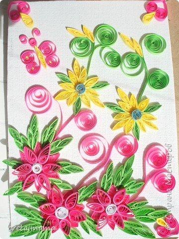Квиллинг: летние цветы фото 1