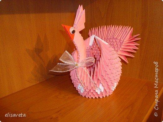 Оригами модульное: голубка к 8 марта