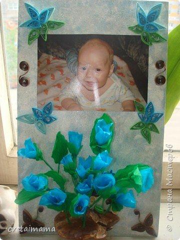 квиллинг и  цветы из гофрированной бумаги фото 1