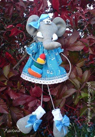 Игрушка мягкая: Слоняшка Тося фото 1