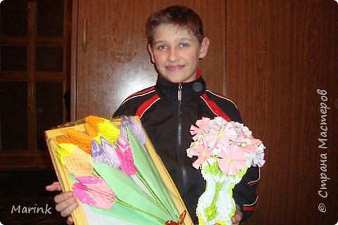 Оригами модульное: Тюльпаны фото 2