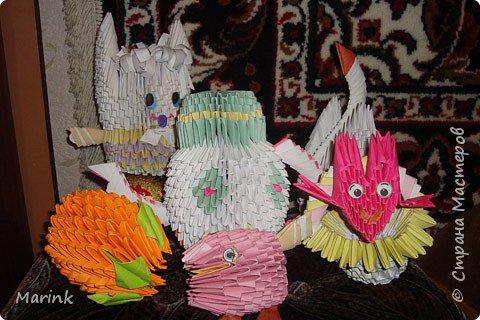 Оригами модульное: Поделки домашние фото 1