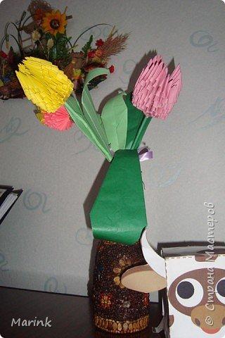 Оригами модульное: Тюльпаны фото 3