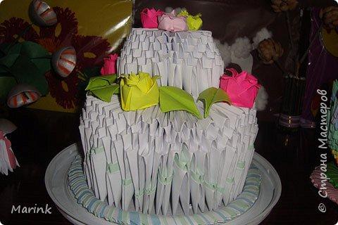 Оригами модульное: Тортик для мам на утренник
