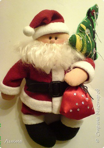 Игрушка мягкая: Дед Мороз и Елочка фото 1
