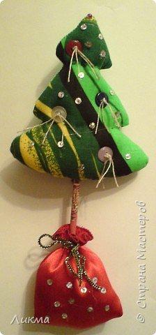 Игрушка мягкая: Дед Мороз и Елочка фото 2