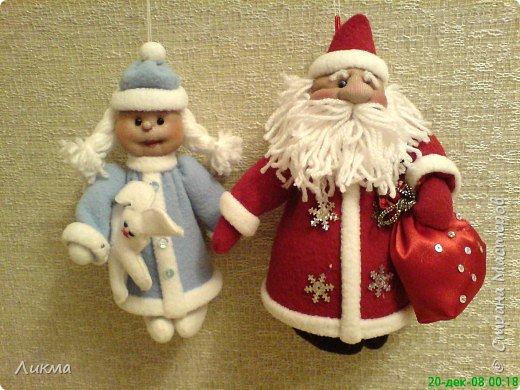 Игрушка мягкая: Дед Мороз и Снегурочка фото 3