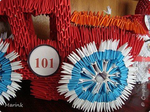 Оригами модульное: Пожарная команда фото 5