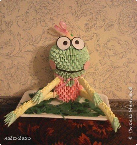 Оригами модульное: лягушка