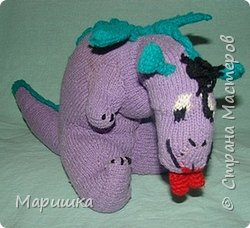 Вязание: Дракон и лягушка фото 1