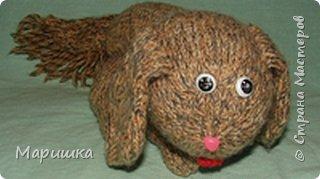 Вязание: Собака фото 1