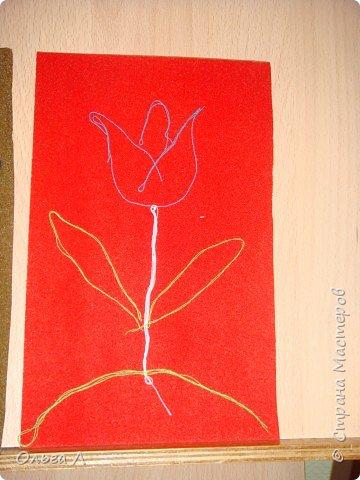 Аппликация: Рисуем нитками фото 4