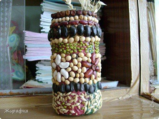 Лепка, Мозаика: вазочка фото 1