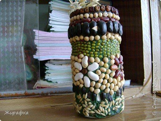 Лепка, Мозаика: вазочка фото 2