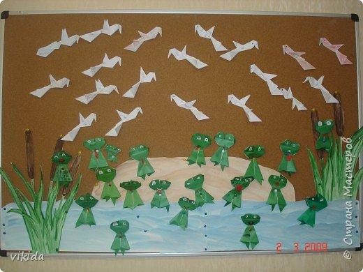 Оригами: чайки и лягушки