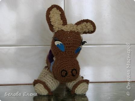 Вязание крючком: Ослик. фото 1