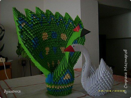 Оригами модульное: птички