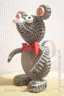 Квиллинг: Мышонок интеллигент. фото 4