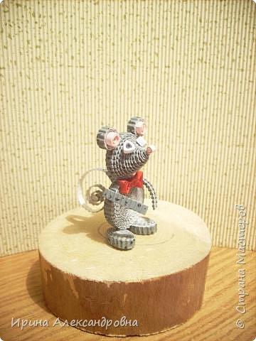 Квиллинг: Мышонок интеллигент. фото 1