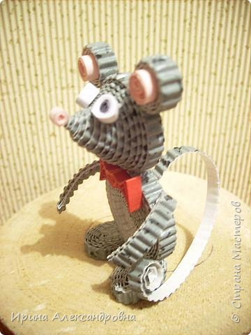Квиллинг: Мышонок интеллигент. фото 2