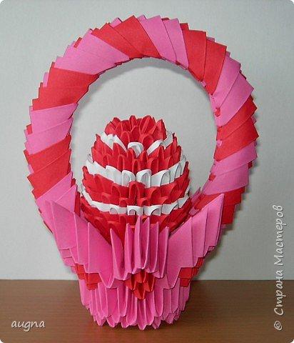 Оригами модульное: Пасхальная корзиночка.