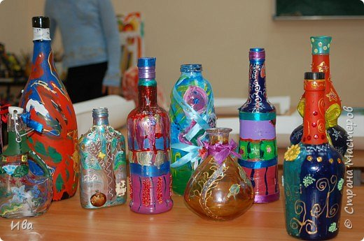 Роспись на бутылках фото 2