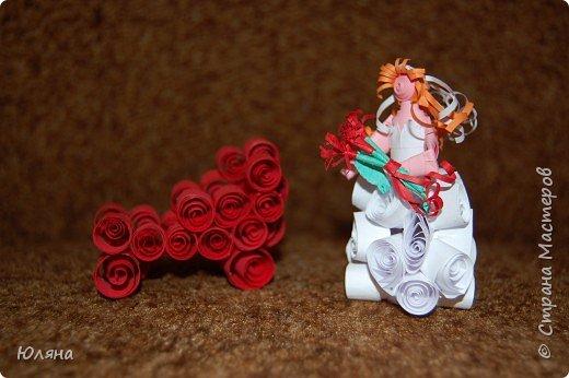 Квиллинг: Невеста в ожидании. фото 2