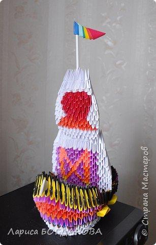 Оригами модульное: Корабль. фото 2