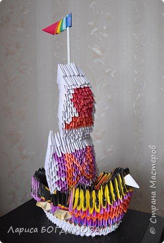 Оригами модульное: Корабль. фото 3