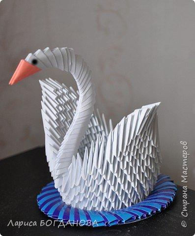 Оригами модульное: Белый лебедь. фото 1