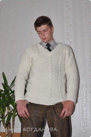 Вязание, Вязание спицами: Джемпер