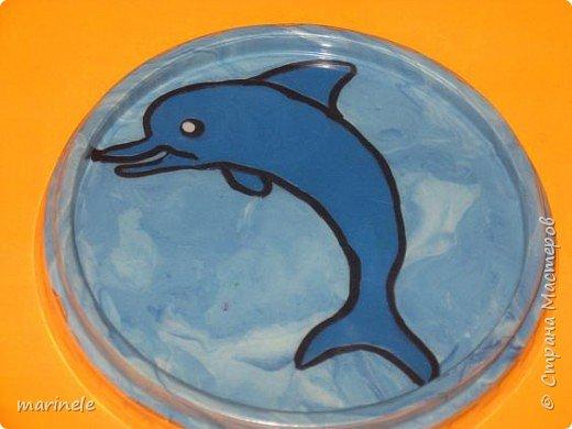 Аппликация из пластилина (+ обратная): Дельфин