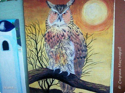 Рисование и живопись: Филин
