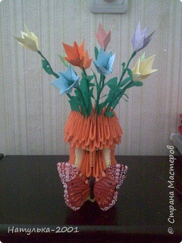 Оригами модульное: Ваза фото 1