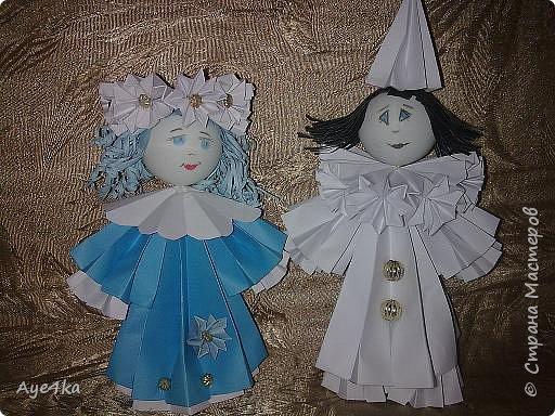 Оригами модульное: Мои куклы))