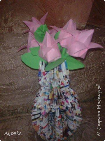 Оригами модульное: Тюльпаны расцвели))