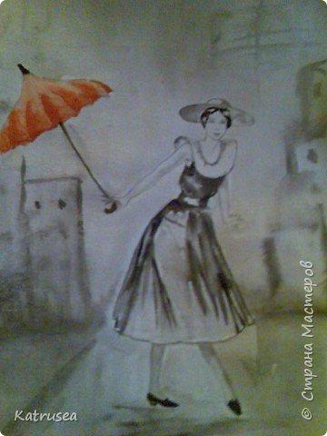 Рисование и живопись: Красный зонт