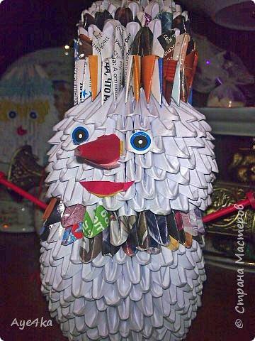 Оригами модульное: веселый снеговик