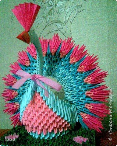 Оригами модульное: Павлин