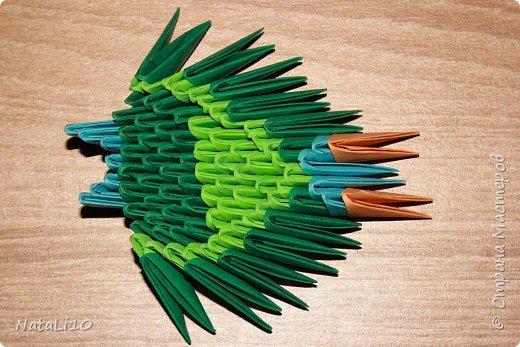 Оригами модульное: Рыбка в море фото 17
